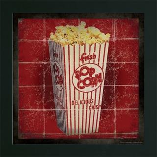 Stephanie Marrott 'Movie Popcorn' Framed Art Print