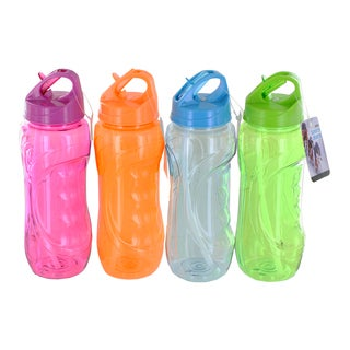Personal Flip Straw 28-ounce Reusable Sports Bottle Set (Set of 4)