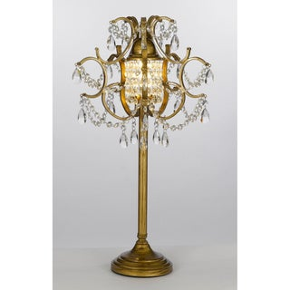 Gallery 1-light Gold Wrought Iron/ Crystal Table Lamp