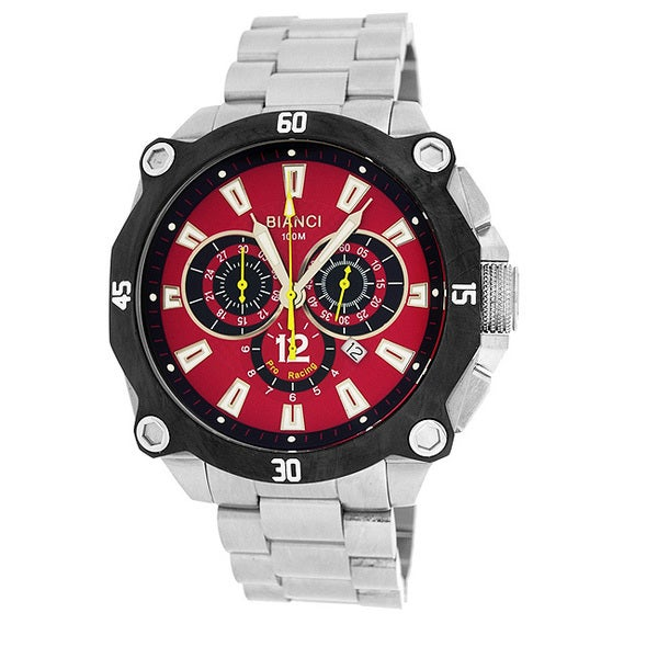 Roberto Bianci Men's 'Pro Racing' Chronograph Red Dial Watch