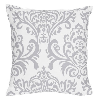Sweet Jojo Designs Grey/ White Elizabeth Decorative Accent Throw Pillow