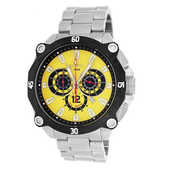 Roberto Bianci Men's 'Pro Racing' Chronograph Yellow Dial Watch