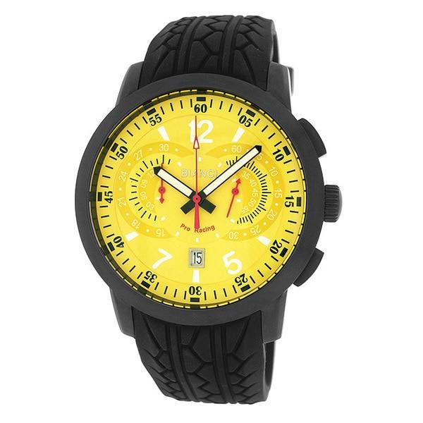 Roberto Bianci Men's Pro Racing Chronograph Gun Plated Watch