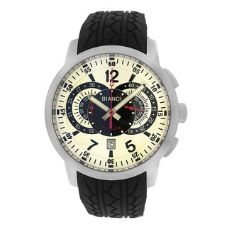 Roberto Bianci Men's Pro Racing Chronograph White/ Black Face Watch
