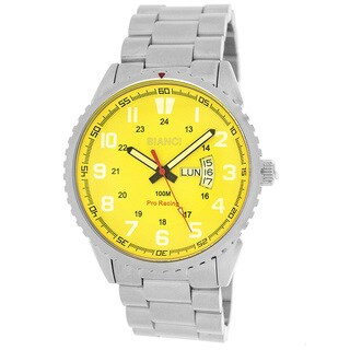 Roberto Bianci Men's All Steel Yellow Face Watch