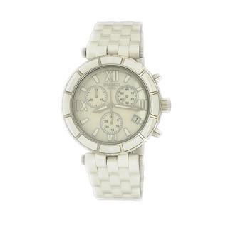 Roberto Bianci Women's 'Persida' White Chronograph Ceramic Watch