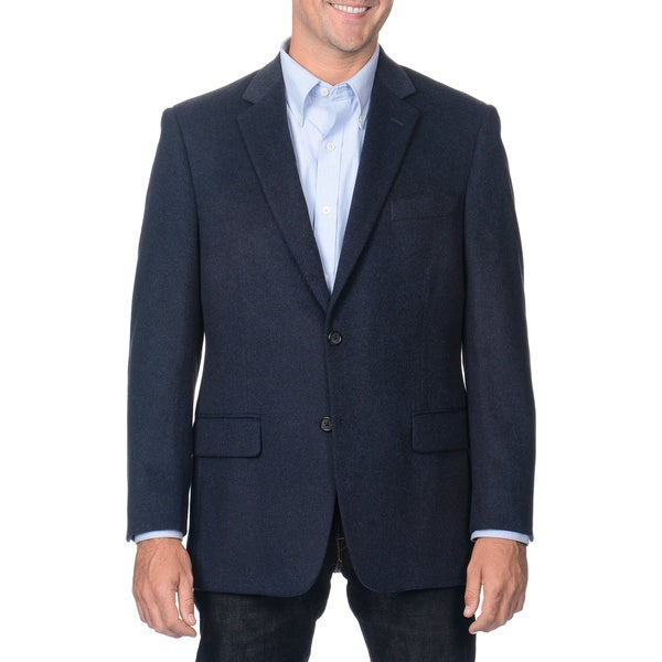Henry Grethel Men's Heather Blue Camel Hair Blazer