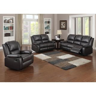 Gavin Brown Bonded Leather 3-piece Living Room Set