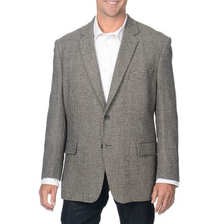 Henry Grethel Men's Grey Check Camel Hair Blazer