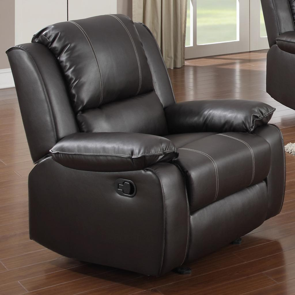 Overstock.com Gavin Brown Bonded Leather Reclining Chair at Sears.com