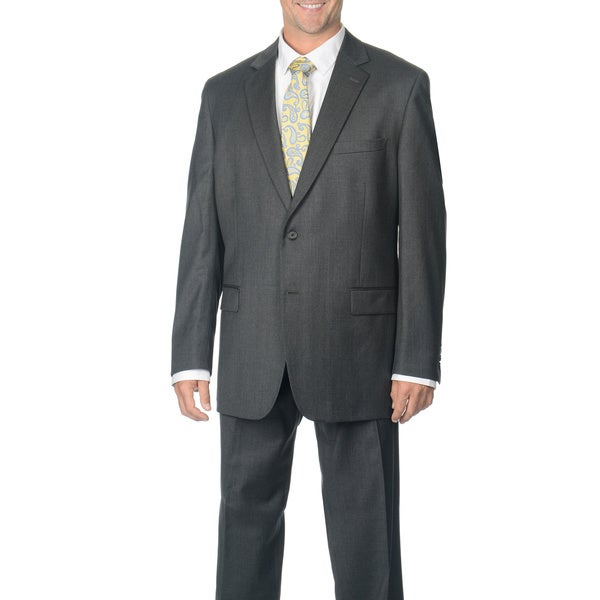 Henry Grethel Men's Grey Wool 2-button Suit