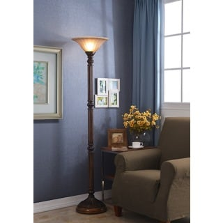 Linton 1-light Aged Golden Bronze Torchiere