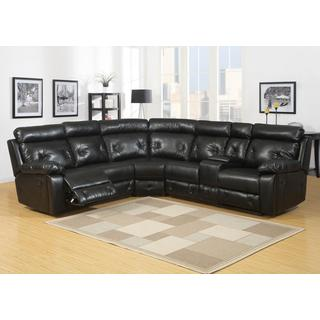Charles Black Bonded Leather Sectional