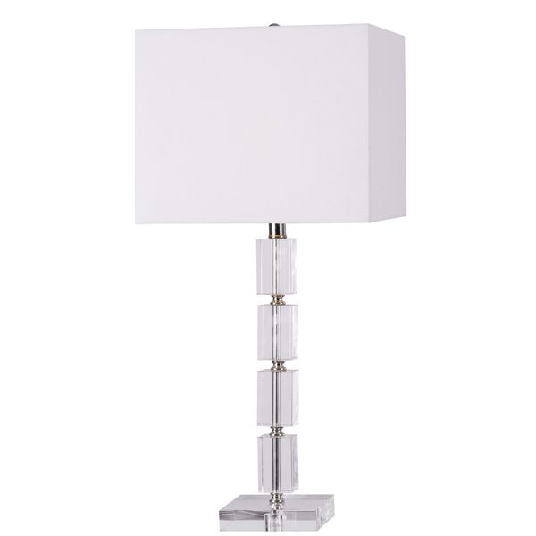 Ava Clear Acrylic Table Lamp