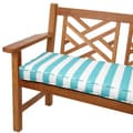 Aqua Stripes 48-inch Indoor/ Outdoor Corded Bench Cushion