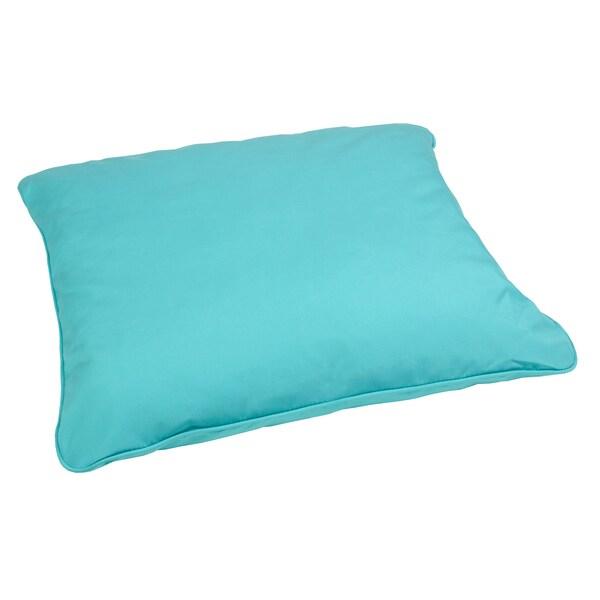 aruba blue indoor outdoor 28 inch square floor pillow