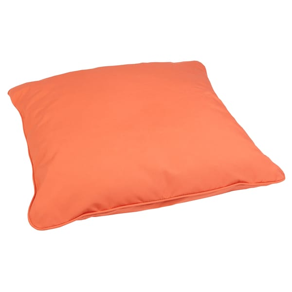 melon 28 inch square indoor outdoor floor pillow with
