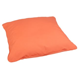 Melon 28-inch Square Indoor/ Outdoor Floor Pillow with Sunbrella Fabric