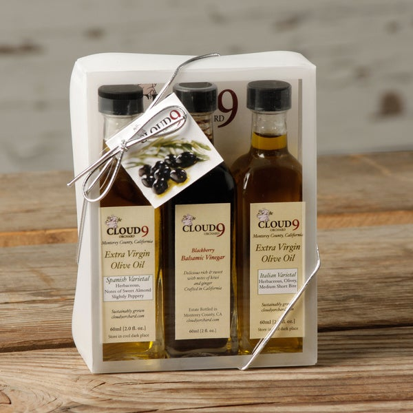 Cloud 9 Orchard Extra Virgin Olive Oil & Blackberry Vinegar (Pack of 3)