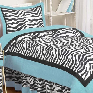 Sweet Jojo Designs Turquoise Funky Zebra 3-piece Full/Queen Comforter Set