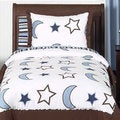 Sweet Jojo Designs Stars and Moons 3-piece Full/Queen Comforter Set