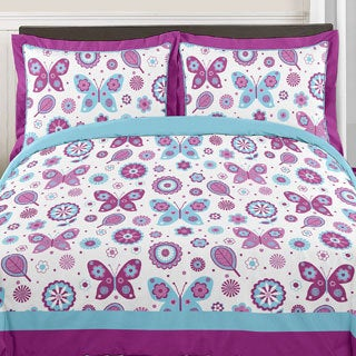 Sweet Jojo Designs Spring Garden 3-piece Full/Queen Comforter Set