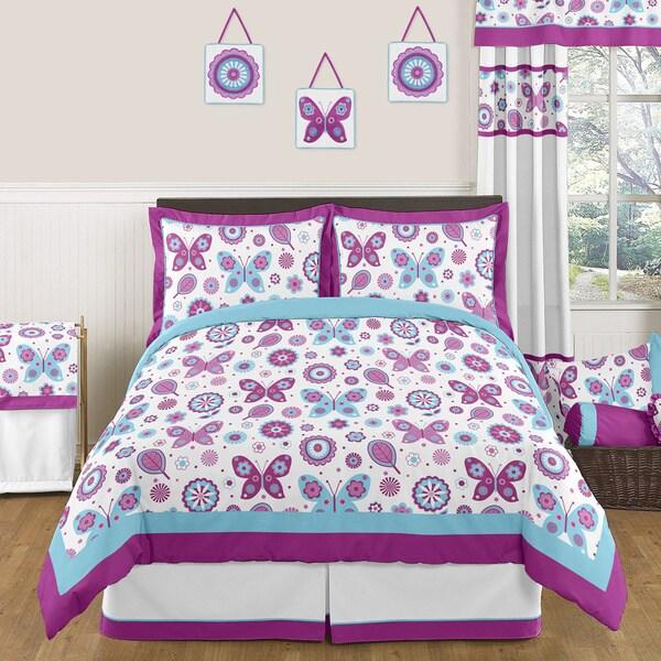 Sweet Jojo Designs Spring Garden 3-piece Full/Queen Comforter Set