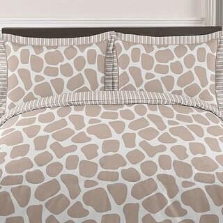 Sweet Jojo Designs Giraffe Neutral 3-piece Full/Queen Comforter Set