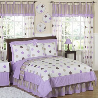 Sweet Jojo Designs Girls 'Polka Dots' 4-piece Twin Comforter Set