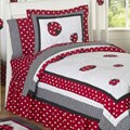 Sweet Jojo Designs Girls 'Ladybug' 4-piece Twin Comforter Set