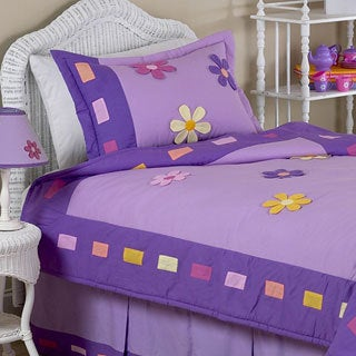 Sweet Jojo Designs Girls 'Danielle's Daisies' 4-piece Twin Comforter Set