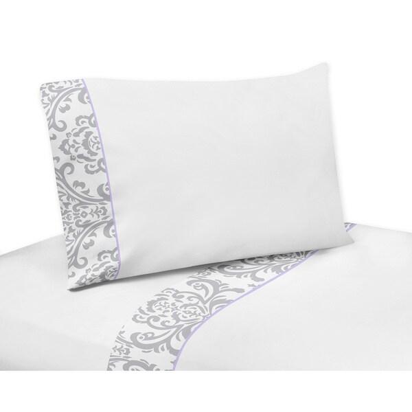Sweet Jojo Designs Gray/ White Elizabeth 200 Thread Count Sheet Set 12300166