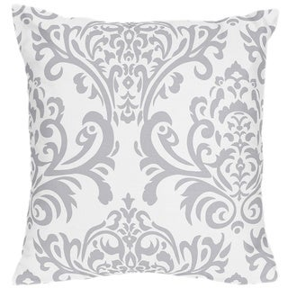 Sweet Jojo Designs Avery Grey/Blue Damask Print Decorative Throw Pillow