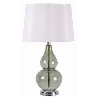 Alma 1-light Spruce Glass Table Lamp