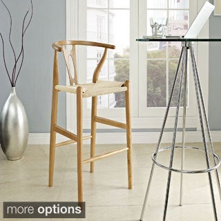 Hourglass Beechwood Bar Stool