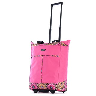 Olympia Pink Fashion Rolling Shopper Tote
