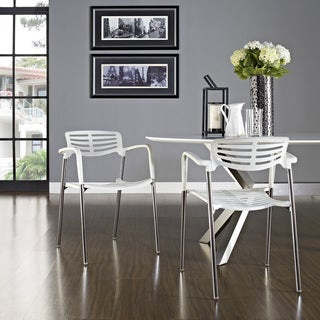 White Fleet Metal Stacking Meeting Chair