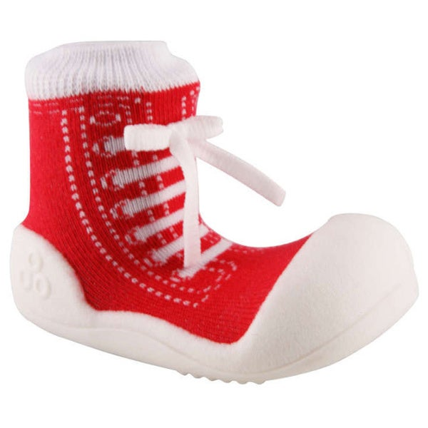 Attipas Toddlers Red Sneaker Print Cotton Shoes