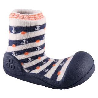 Attipas Toddlers Navy Nautical Stripe Print Cotton Shoes