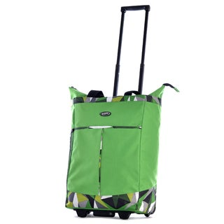 Olympia Green Fashion Rolling Shopper Tote
