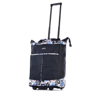 Olympia Black Fashion Rolling Shopper Tote