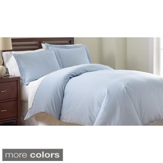 800 Thread Count Damask Stripe 3-piece Duvet Cover set