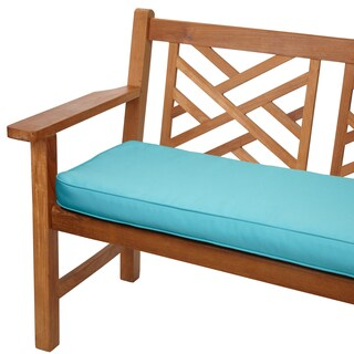 Aruba Blue 48-inch Corded Indoor/ Outdoor Bench Cushion with Sunbrella Fabric