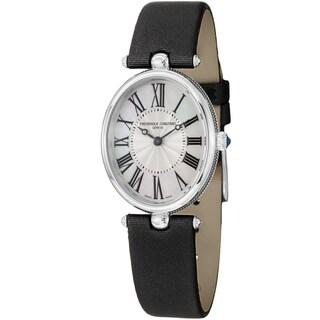 Frederique Constant Women's FC-200MPW2V6 'Art Deco' Black Satin Strap Watch