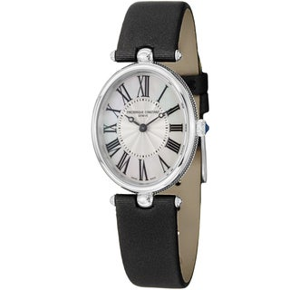 Frederique Constant Women's 'Art Deco' Black Satin Strap Watch