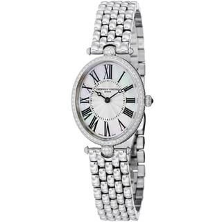 Frederique Constant Women's FC-200MPW2VD6B 'Art Deco' Stainless Steel Diamond Watch