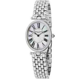 Frederique Constant Women's 'Art Deco' Stainless Steel Diamond Watch