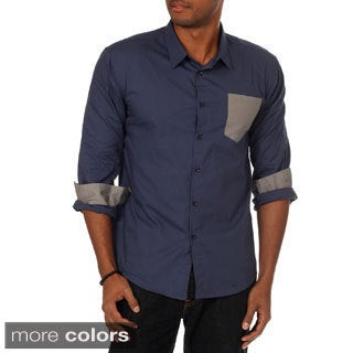 Oxymoron Men's Slim Fit Contrast Pocket Shirt
