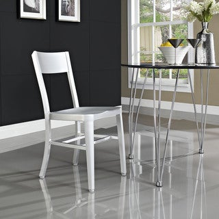 Milan Brushed Aluminum Dining Chair