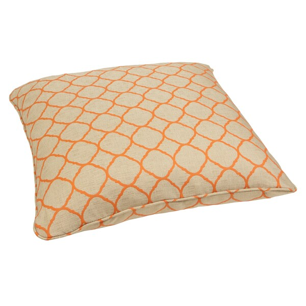 Outdoor Moroccan Floor Pillows : Moroccan Orange 28-inch Square Indoor/ Outdoor Floor Pillow with Sunbrella Fabric - 15952366 ...